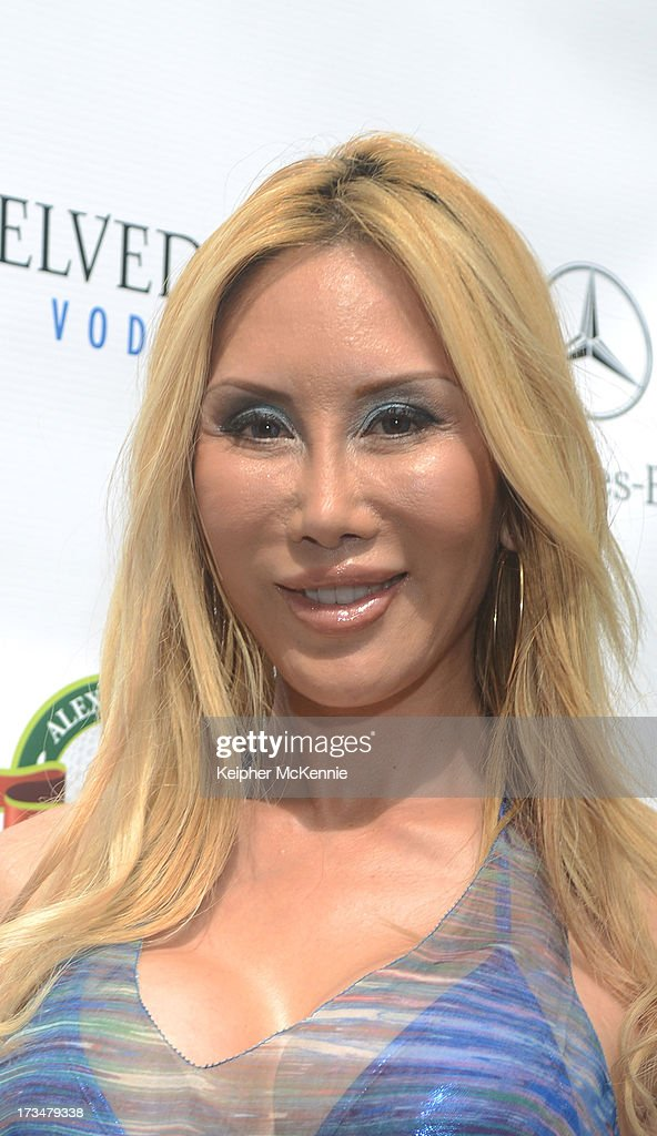 Actress Tess Brousard arrives to the 4th Annual Alex Thomas Celebrity Golf Weekend Pool Party hosted by NFL's Jacoby Jones of the Baltimore Ravens at Hollywood Roosevelt Hotel on July 14, 2013 in Hollywood, California.