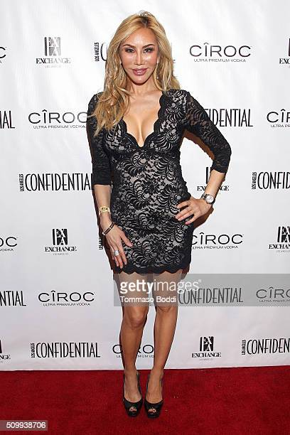 Actress Tess Broussard attends the Los Angeles Confidential Magazine celebrates the Grammys with Cover Star Mark Ronson at Exchange LA Powered By...