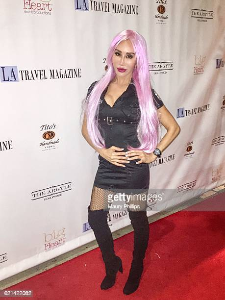 Actress Tess Broussard attends LA Travel Magazines Le Mystique Masquerade Ball at The Argyle on October 29 2016 in Hollywood California