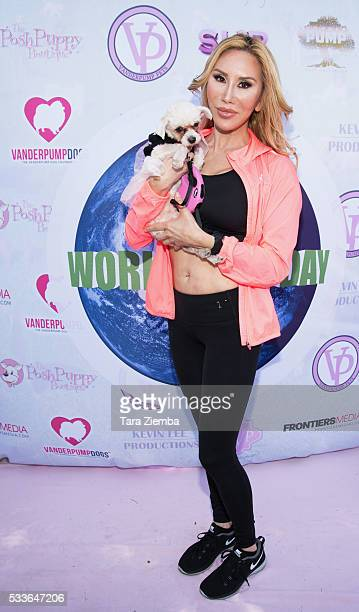Actress Tess Broussard attends World Dog Day Celebration at The City of West Hollywood Park on May 22 2016 in West Hollywood California
