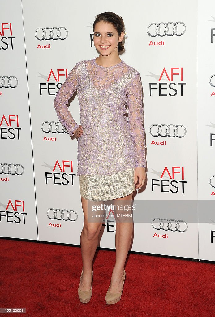 Actress Tessa Ia arrives at the 'On The Road' premiere during the 2012 AFI Fest presented by Audi at Grauman's Chinese Theatre on November 3, 2012 in Hollywood, California.