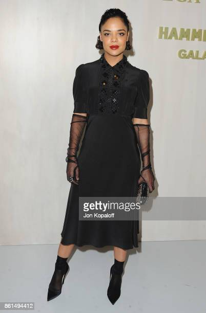 Actress Tessa Thompson arrives at Bottega Veneta Hosts Hammer Museum Gala In The Garden on October 14 2017 in Westwood California