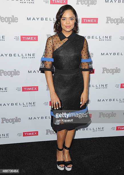 Actress Tessa Thompson arrives at People's 'Ones To Watch' Event at Ysabel on September 16 2015 in West Hollywood California