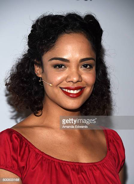 Actress Tessa Thompson arrives at The Shakespeare Center of Los Angeles 25th Annual Simply Shakespeare Benefit at The Broad Stage on December 8 2015...
