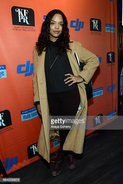 Actress Tessa Thompson attends Kari Feinstein Style Lounge on January 19 2014 in Park City Utah