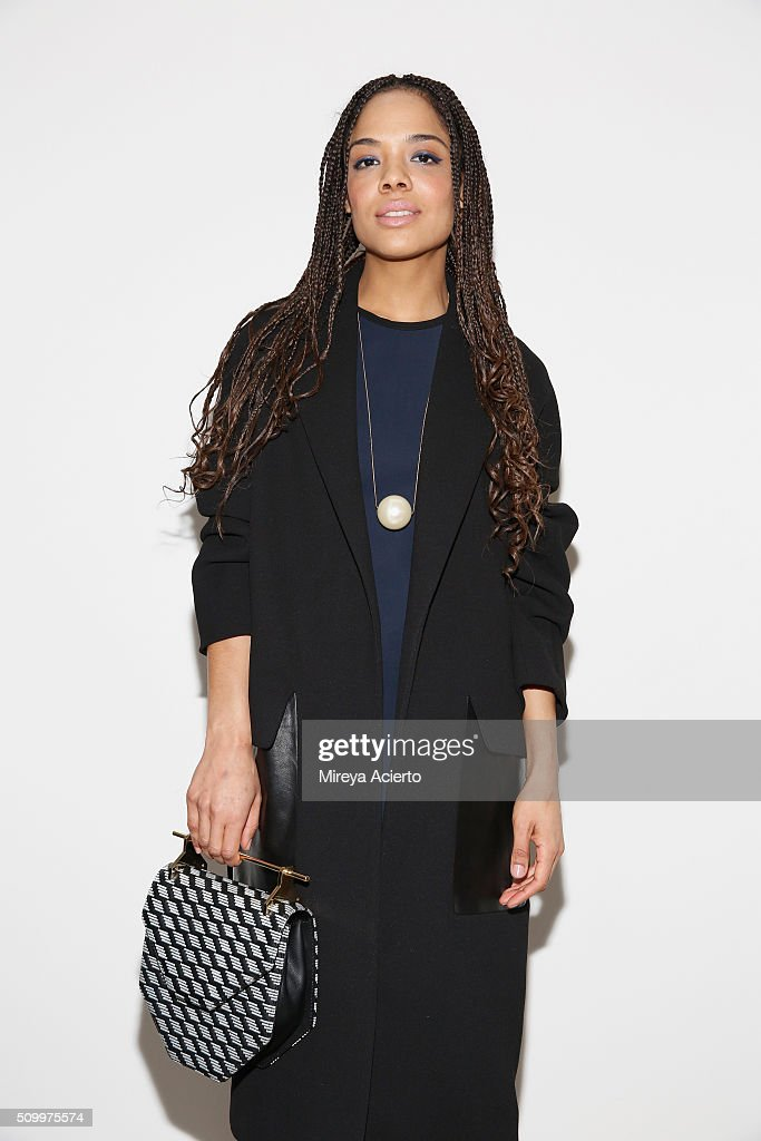 Actress Tessa Thompson attends the Dion Lee fashion show during Fall 2016 MADE Fashion Week at Milk Studios on February 13, 2016 in New York City.