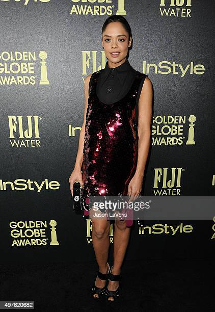 Actress Tessa Thompson attends the Hollywood Foreign Press Association and InStyle's celebration of the 2016 Golden Globe award season at Ysabel on...