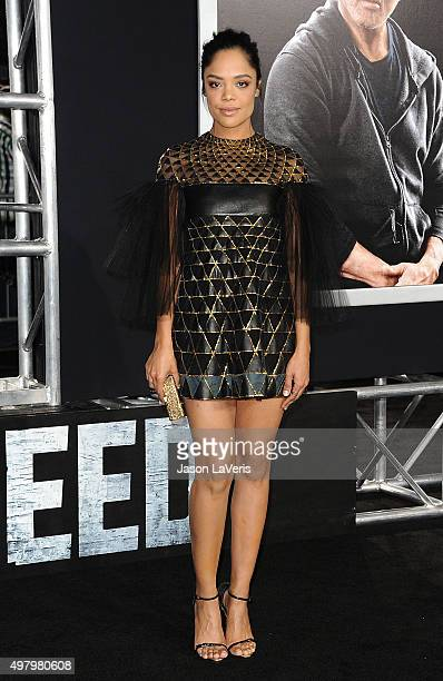 Actress Tessa Thompson attends the premiere of 'Creed' at Regency Village Theatre on November 19 2015 in Westwood California