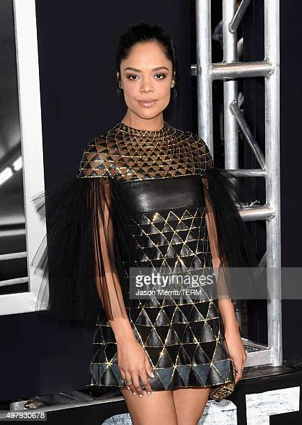 Actress Tessa Thompson attends Warner Bros Pictures' 'Creed' Premiere at Regency Village Theatre on November 19 2015 in Westwood California