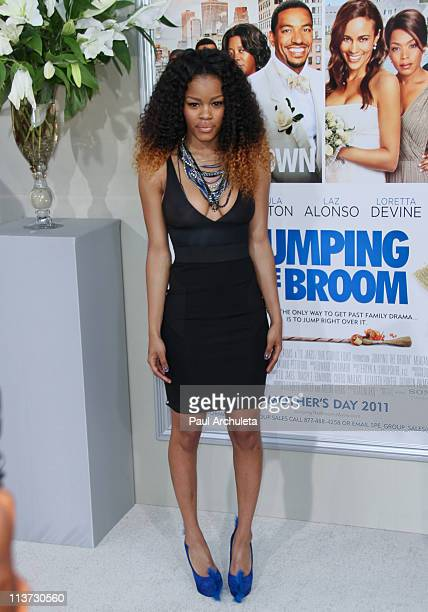 Actress Teyana Taylor arrives at the 'Jumping The Broom' Los Angeles premiere at ArcLight Cinemas Cinerama Dome on May 4 2011 in Hollywood California