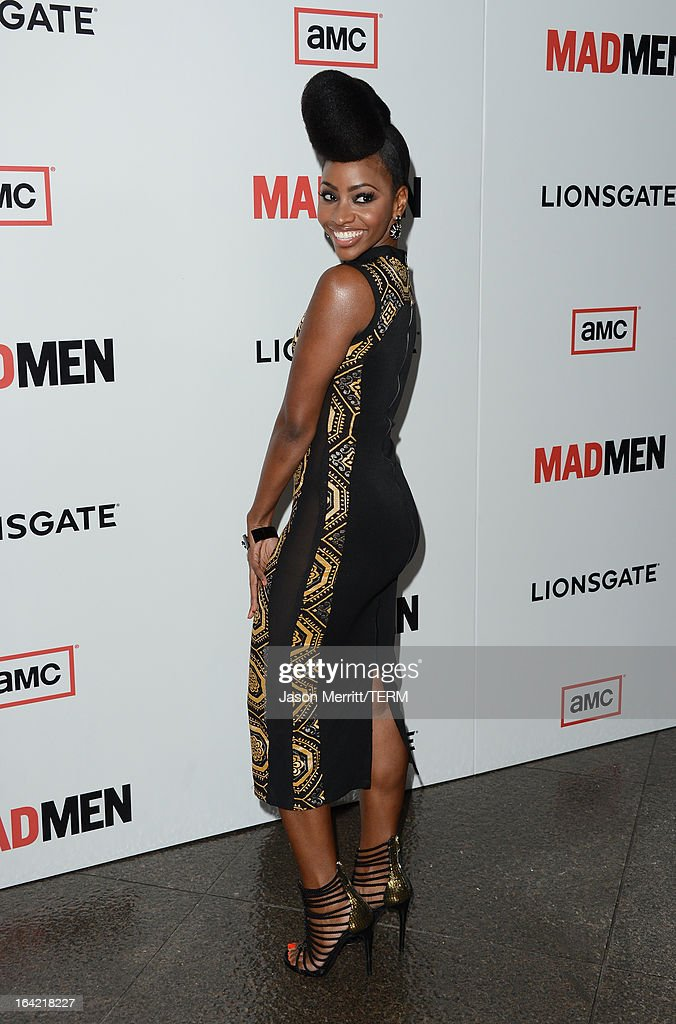 Actress Teyonah Parris arrives at the Premiere of AMC's 'Mad Men' Season 6 at DGA Theater on March 20, 2013 in Los Angeles, California.