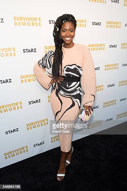 Actress Teyonah Parris attends 'Survivor's Remorse' New York screening at Roxy Hotel on July 12 2016 in New York City