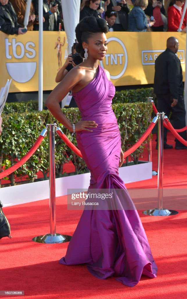 Actress Teyonah Parris attends the 19th Annual Screen Actors Guild Awards at The Shrine Auditorium on January 27, 2013 in Los Angeles, California. (Photo by Larry Busacca/WireImage) 23116_018_0219.jpg