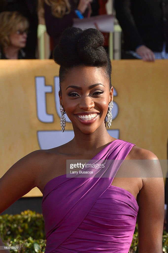 Actress Teyonah Parris attends the 19th Annual Screen Actors Guild Awards at The Shrine Auditorium on January 27, 2013 in Los Angeles, California. (Photo by Larry Busacca/WireImage) 23116_018_0396.JPG