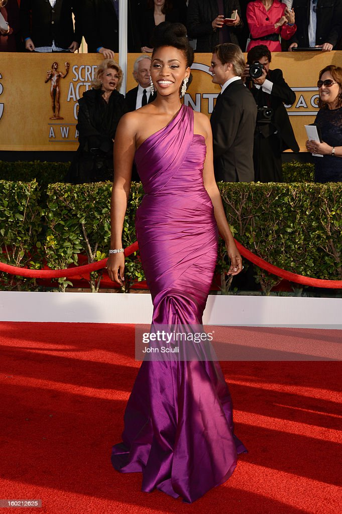 Actress Teyonah Parris attends the 19th Annual Screen Actors Guild Awards at The Shrine Auditorium on January 27, 2013 in Los Angeles, California. (Photo by John Sciulli/WireImage) 23116_014_0371.JPG