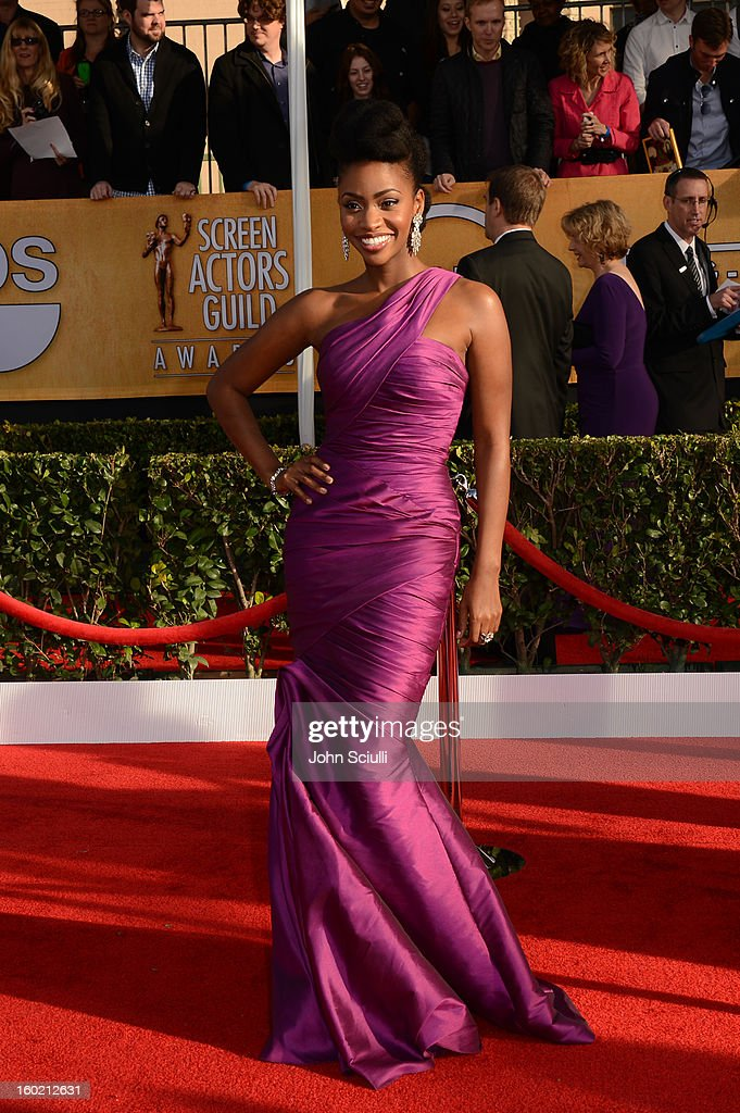 Actress Teyonah Parris attends the 19th Annual Screen Actors Guild Awards at The Shrine Auditorium on January 27, 2013 in Los Angeles, California. (Photo by John Sciulli/WireImage) 23116_014_0384.JPG