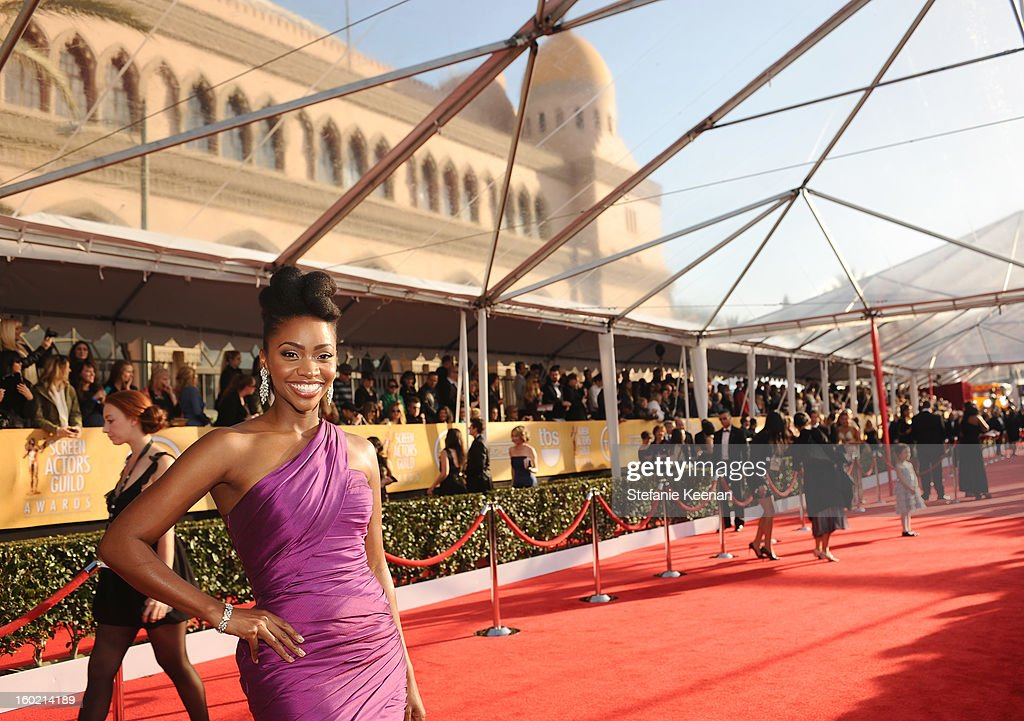 Actress Teyonah Parris attends the 19th Annual Screen Actors Guild Awards at The Shrine Auditorium on January 27, 2013 in Los Angeles, California. (Photo by Stefanie Keenan/WireImage) 23116_025_0318.jpg