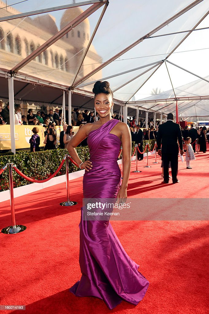 Actress Teyonah Parris attends the 19th Annual Screen Actors Guild Awards at The Shrine Auditorium on January 27, 2013 in Los Angeles, California. (Photo by Stefanie Keenan/WireImage) 23116_025_0323.jpg