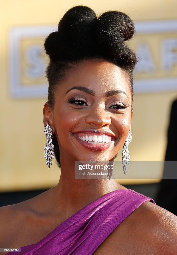 Actress Teyonah Parris attends the 19th Annual Screen Actors Guild Awards at The Shrine Auditorium on January 27, 2013 in Los Angeles, California.