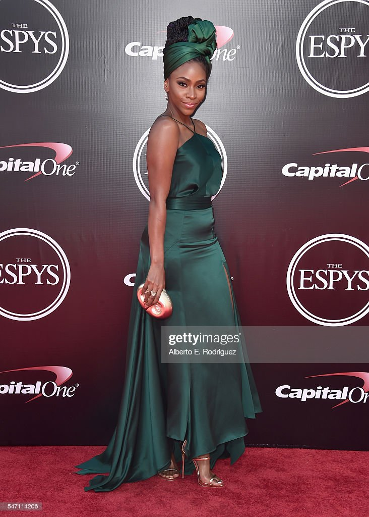 Actress Teyonah Parris attends the 2016 ESPYS at Microsoft Theater on July 13, 2016 in Los Angeles, California.