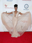 Actress Teyonah Parris attends the 46th NAACP Image Awards presented by TV One at Pasadena Civic Auditorium on February 6 2015 in Pasadena California