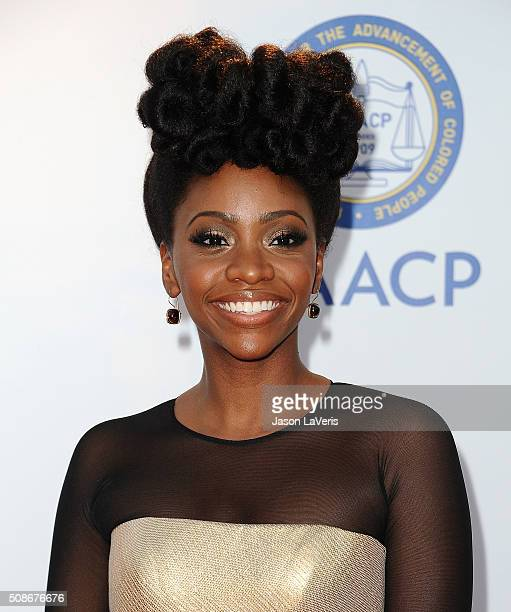 Actress Teyonah Parris attends the 47th NAACP Image Awards at Pasadena Civic Auditorium on February 5 2016 in Pasadena California