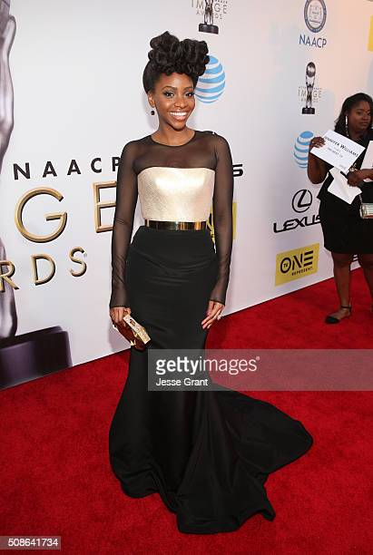 Actress Teyonah Parris attends the 47th NAACP Image Awards presented by TV One at Pasadena Civic Auditorium on February 5 2016 in Pasadena California