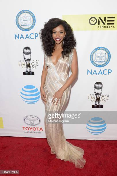 Actress Teyonah Parris attends the 48th NAACP Image Awards at Pasadena Civic Auditorium on February 11 2017 in Pasadena California