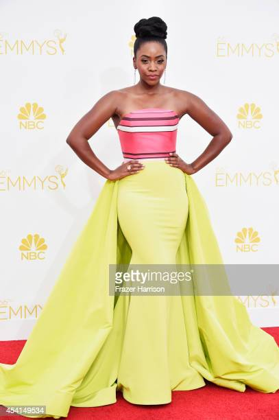 Actress Teyonah Parris attends the 66th Annual Primetime Emmy Awards held at Nokia Theatre LA Live on August 25 2014 in Los Angeles California