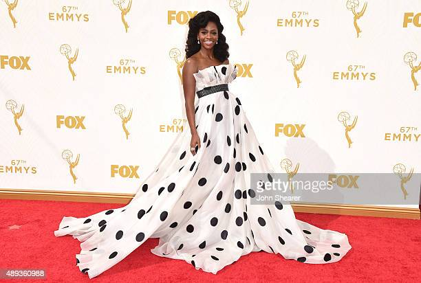 Actress Teyonah Parris attends the 67th Annual Primetime Emmy Awards at Microsoft Theater on September 20 2015 in Los Angeles California