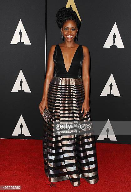 Actress Teyonah Parris attends the 7th annual Governors Awards at The Ray Dolby Ballroom at Hollywood Highland Center on November 14 2015 in...