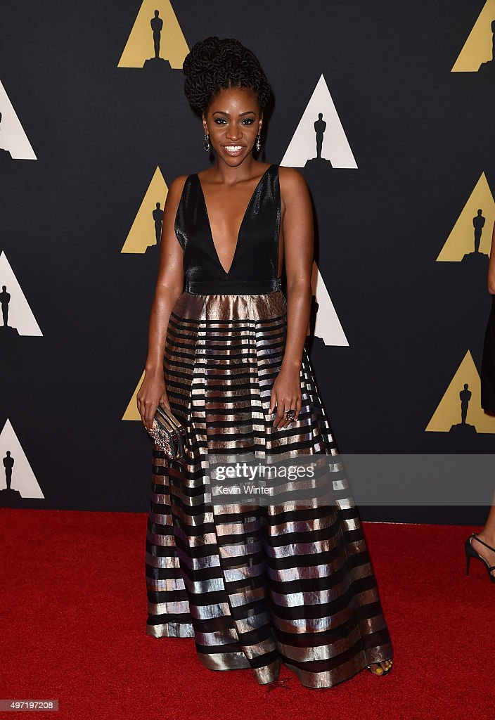 Actress Teyonah Parris attends the Academy of Motion Picture Arts and Sciences' 7th annual Governors Awards at The Ray Dolby Ballroom at Hollywood & Highland Center on November 14, 2015 in Hollywood, California.