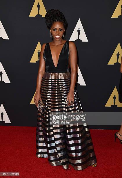 Actress Teyonah Parris attends the Academy of Motion Picture Arts and Sciences' 7th annual Governors Awards at The Ray Dolby Ballroom at Hollywood...