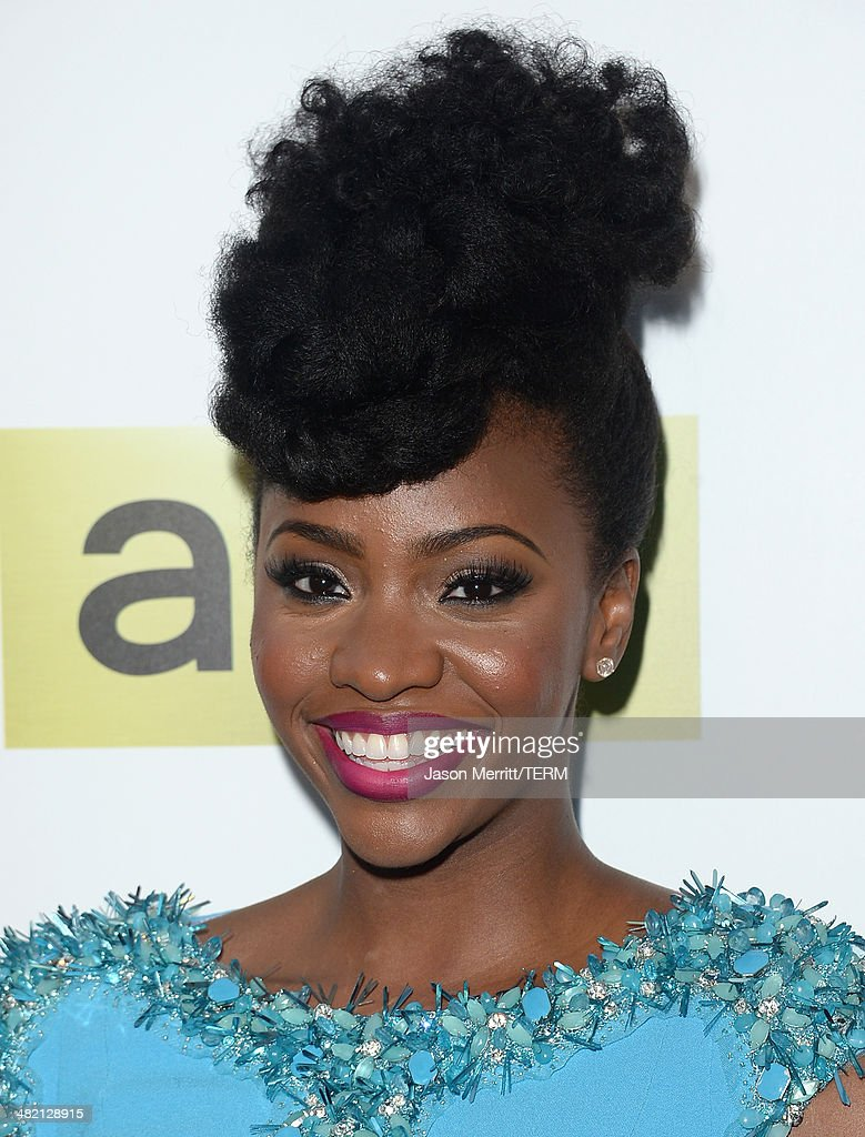 Actress Teyonah Parris attends the AMC celebration of the 'Mad Men' season 7 premiere at ArcLight Cinemas on April 2, 2014 in Hollywood, California.