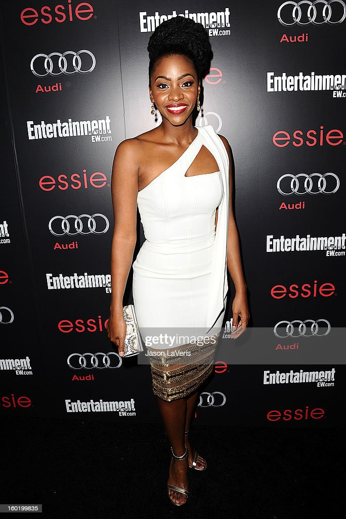 Actress Teyonah Parris attends the Entertainment Weekly Screen Actors Guild Awards pre-party at Chateau Marmont on January 26, 2013 in Los Angeles, California.