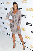 Actress Teyonah Parris attends the Los Angeles premiere of STARZ new series 'Survivor's Remorse' at Wallis Annenberg Center for the Performing Arts...