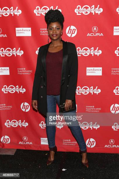 Actress Teyonah Parris attends the premiere of 'Dear White People' at the Library Center Theater during the 2014 Sundance Film Festival on January 18...