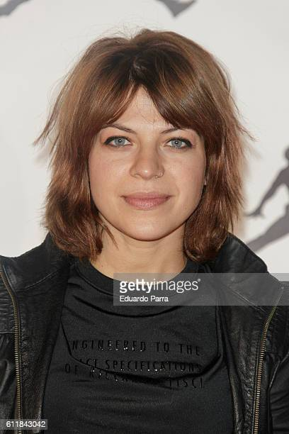 Actress Thais Blume attends 'Defy Gravity Tribute to Michael Jordan' photocall at Principe Pio station on October 1 2016 in Madrid Spain