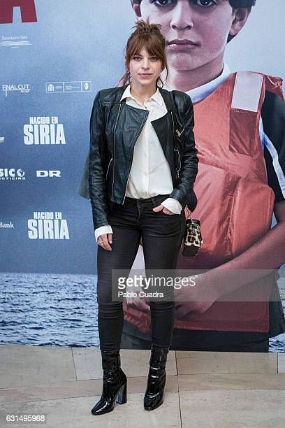 Actress Thais Blume attends the 'Nacido En Siria' premiere at Palafox Cinema on January 11 2017 in Madrid Spain