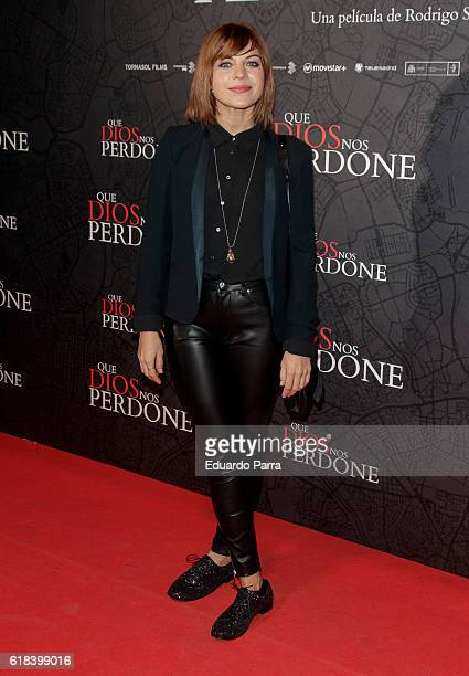 Actress Thais Blume attends the 'Que Dios nos perdone' photocall at Capitol cinema on October 26 2016 in Madrid Spain