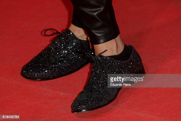 Actress Thais Blume shoes detail attends the 'Que Dios nos perdone' photocall at Capitol cinema on October 26 2016 in Madrid Spain