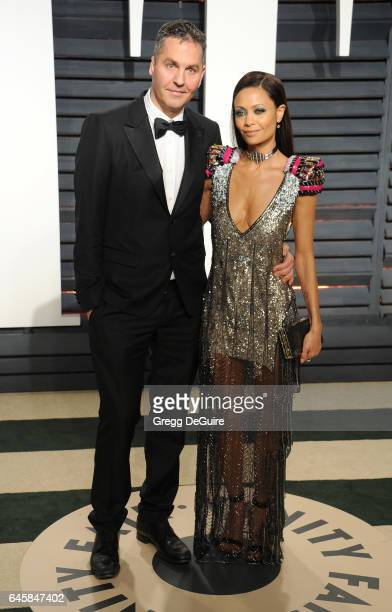 Actress Thandie Newton and Ol Parker arrive at the 2017 Vanity Fair Oscar Party Hosted By Graydon Carter at Wallis Annenberg Center for the...