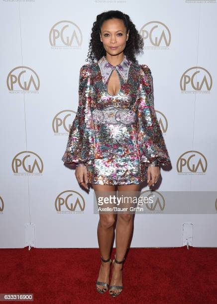 Actress Thandie Newton arrives at the 28th Annual Producers Guild Awards at The Beverly Hilton Hotel on January 28 2017 in Beverly Hills California