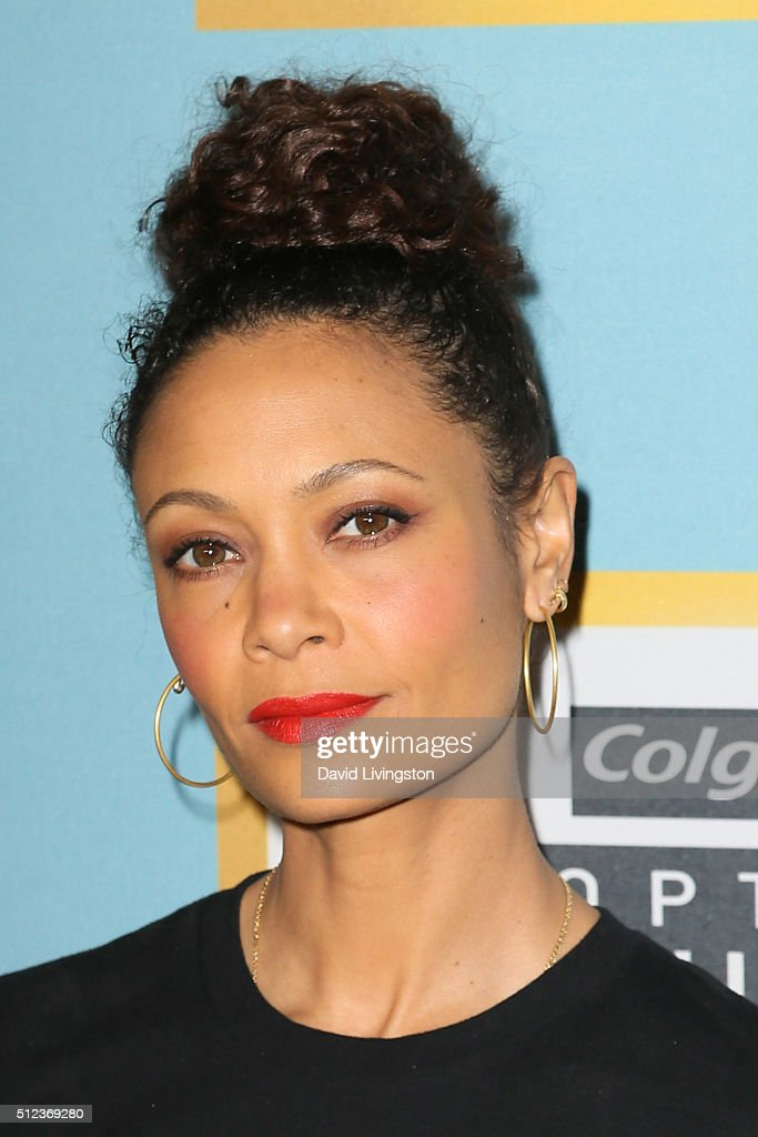Actress Thandie Newton arrives at the Essence 9th Annual Black Women event in Hollywood at the Beverly Wilshire Four Seasons Hotel on February 25...