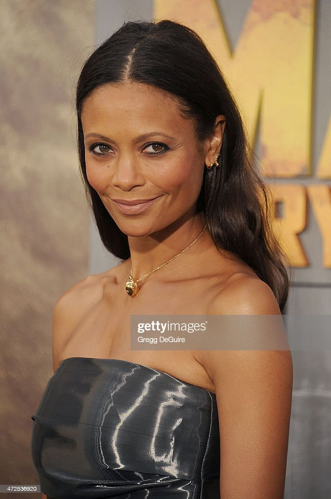 Actress <a gi-track='captionPersonalityLinkClicked' href=/galleries/search?phrase=Thandie+Newton&family=editorial&specificpeople=210812 ng-click='$event.stopPropagation()'>Thandie Newton</a> arrives at the Los Angeles premiere of 'Mad Max: Fury Road' at TCL Chinese Theatre IMAX on May 7, 2015 in Hollywood, California.