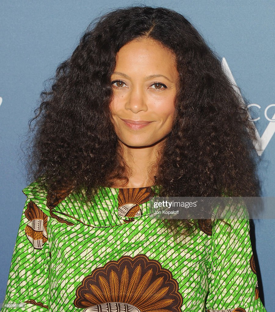 Actress <a gi-track='captionPersonalityLinkClicked' href=/galleries/search?phrase=Thandie+Newton&family=editorial&specificpeople=210812 ng-click='$event.stopPropagation()'>Thandie Newton</a> arrives at Variety's Power Of Women Luncheon at the Beverly Wilshire Four Seasons Hotel on October 9, 2015 in Beverly Hills, California.