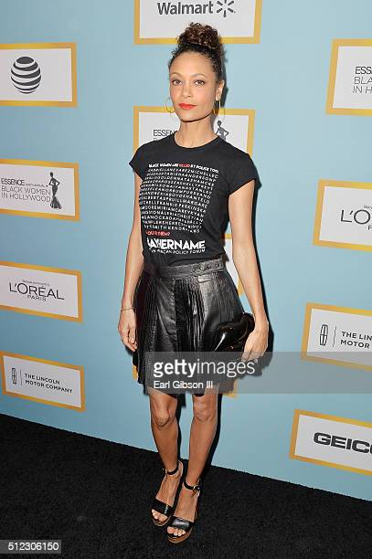 Actress Thandie Newton attends the 2016 ESSENCE Black Women In Hollywood awards luncheon at the Beverly Wilshire Four Seasons Hotel on February 25...