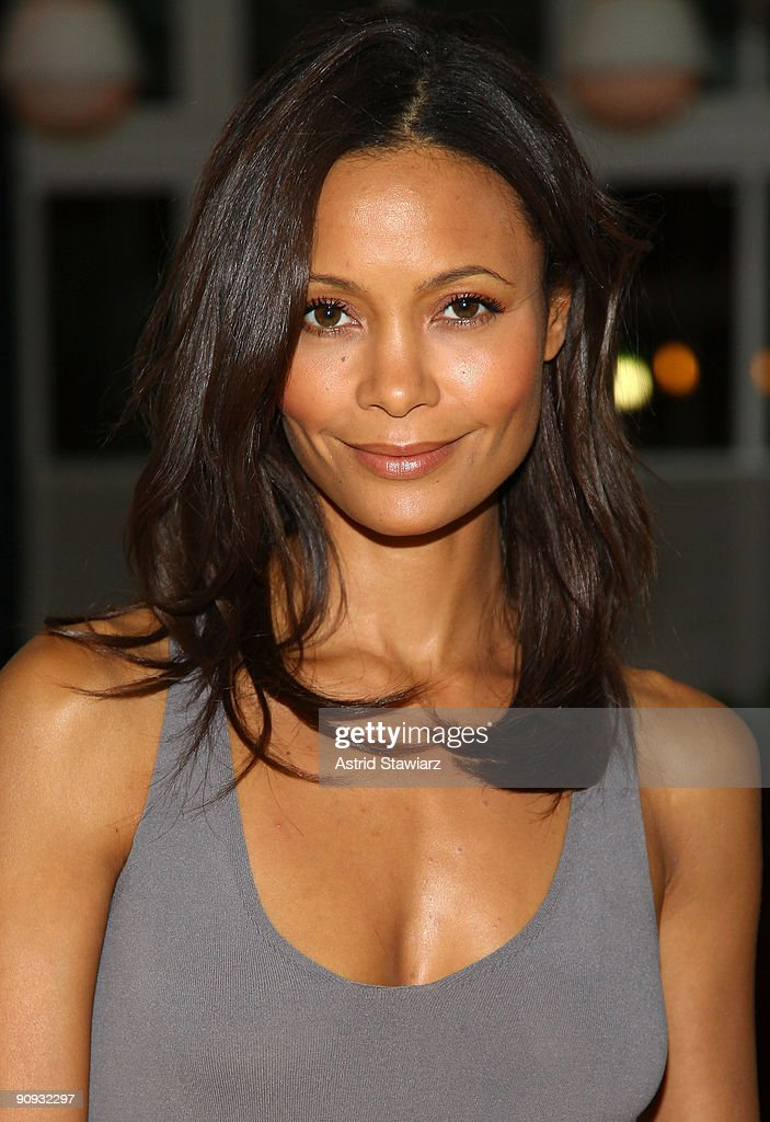 Actress Thandie Newton attends the Calvin Klein Collection after party at the Standard Grill at The Standard Hotel on September 17 2009 in New York...