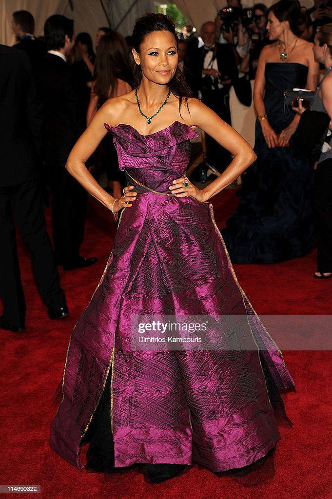 Actress <a gi-track='captionPersonalityLinkClicked' href=/galleries/search?phrase=Thandie+Newton&family=editorial&specificpeople=210812 ng-click='$event.stopPropagation()'>Thandie Newton</a> attends the Costume Institute Gala Benefit to celebrate the opening of the 'American Woman: Fashioning a National Identity' exhibition at The Metropolitan Museum of Art on May 3, 2010 in New York City.