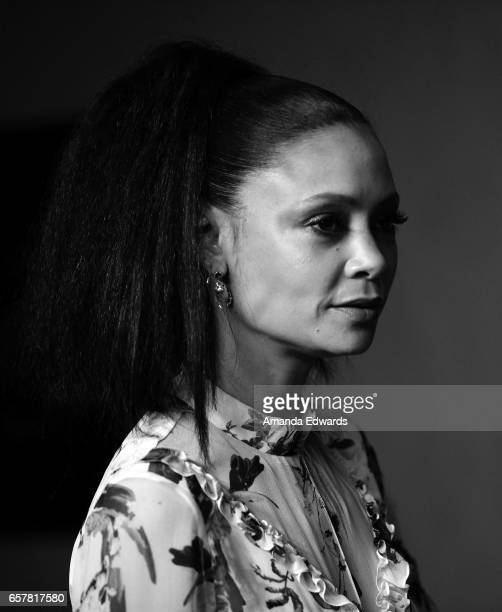 Actress Thandie Newton attends The Paley Center For Media's 34th Annual PaleyFest Los Angeles 'Westworld' screening and panel at the Dolby Theatre on...